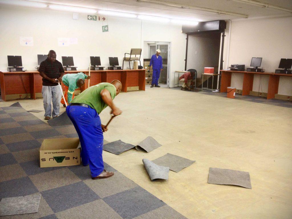 Carpet installation services